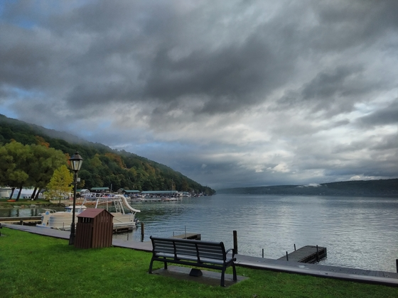 Keuka lake from a park