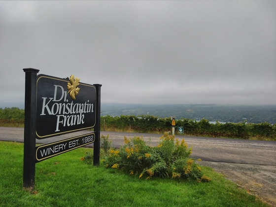 Dr. Konstantin Frank sign and Keuka